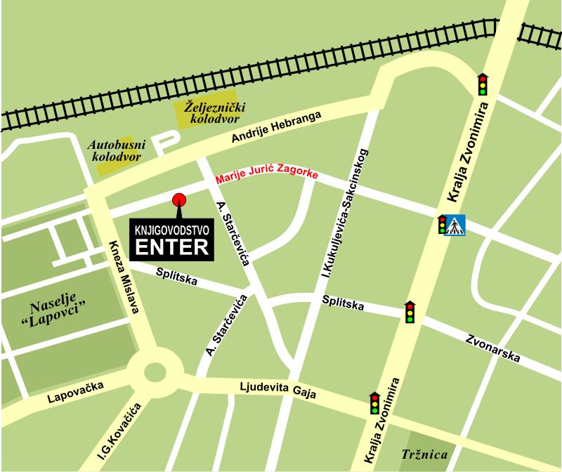 Enter - kako nas naći (karta)